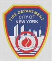 Cross Stitch Chart of New York City Fire Dept.