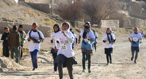 Marathon in Afghanistan. Photo: Latif Azimi