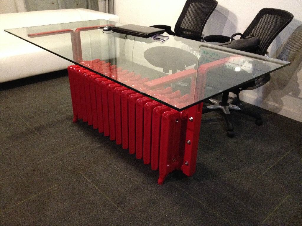 Furniture - Custom glass conference table
