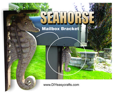 Diy Sea Horse Mailbox Bracket