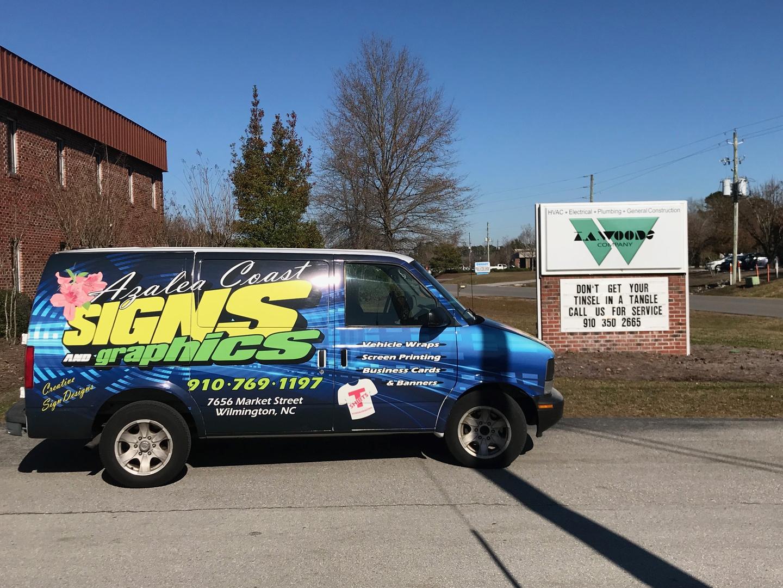 Custom Signs, Sign Company - Azalea Coast Graphics - Wilmington, Nc