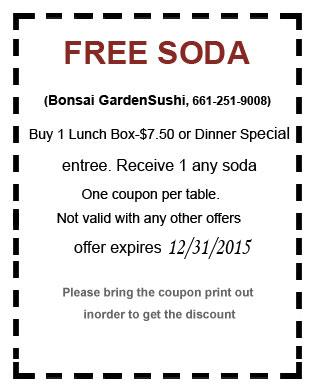 free dinner coupon