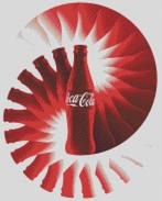 Cross Stitch Chart Pattern of Coca Cola Spinning Bottle Design