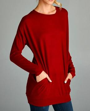 Red Tunic Sweater
