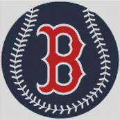 Cross Stitch Chart pattern of the Bostn Red Sox