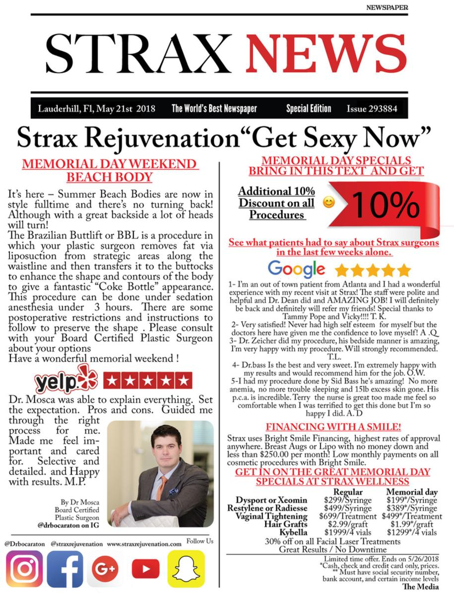 Strax Rejuvenation Specials