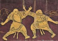 Historical image of Kung Fu practitioners.