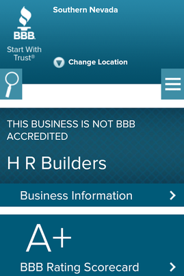 our BBB +A Ratings as a General Contractor