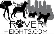 Rover Heights Pet Care Services dog walker logo