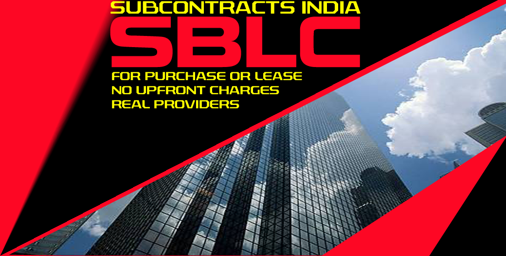 SBLC (Standby Letter of Credit)-Direct Providers, No Upfront Charges