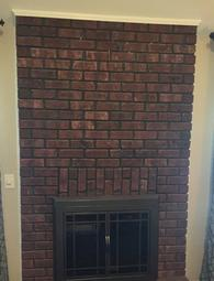 brick fireplace being prepared for flat screen tv to be mounted by Carolina Custom Mounts. Charlotte tv over fireplace installation company