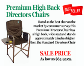 premium director chairs