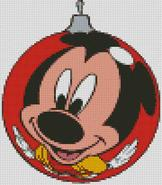 Christmas Cross Stitch Chart Mickey Mouse Bauble