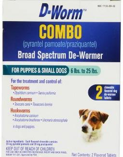 Dog De-Wormer power that treat 3 types of worms