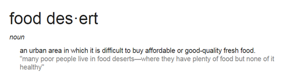 Food desert definition Grow Ohio Valley