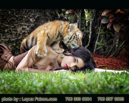 QUINCEANERA WITH BABY TIGERS SWEET 15 ANOS