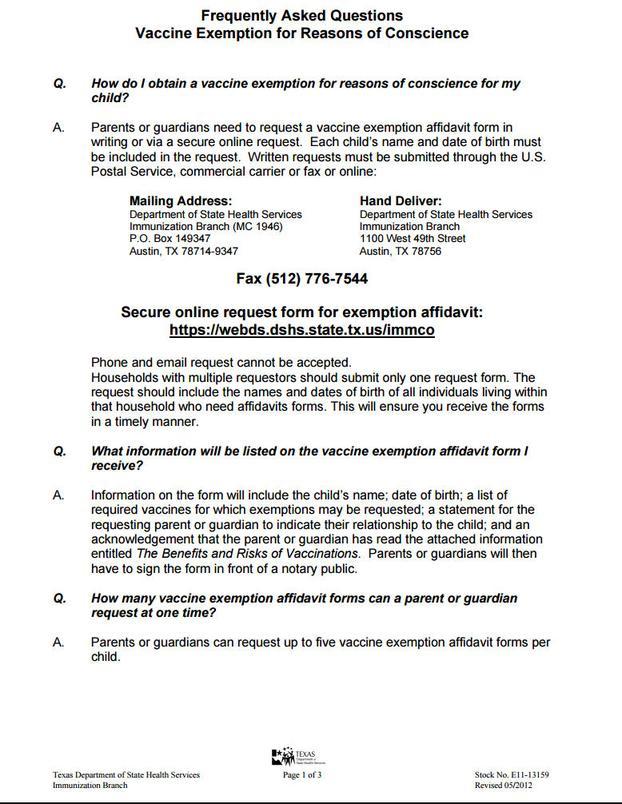 Faq_ Vaccine Exemption