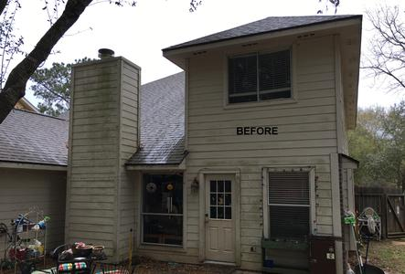 house pressure washing in Magnolia Texas before