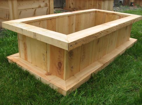Cedar style 1 custom raised gardens raised garden bed - Cheap raised garden beds for sale ...