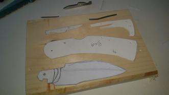 How to make a DIY folding knife with micarta handles. FREE step by step instructions. www.DIYeasycrafts.com