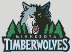 Minnesota Timberwolves Cross Stitch Chart Pattern