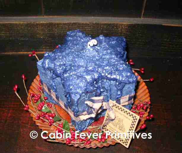 Large Grubby Star Cake Candle