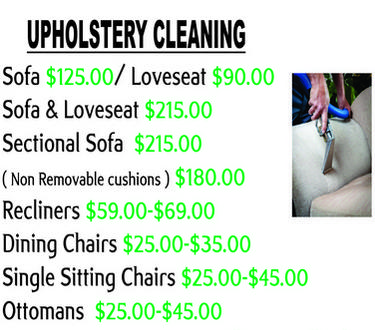 Paso Robles upholstery cleaning prices