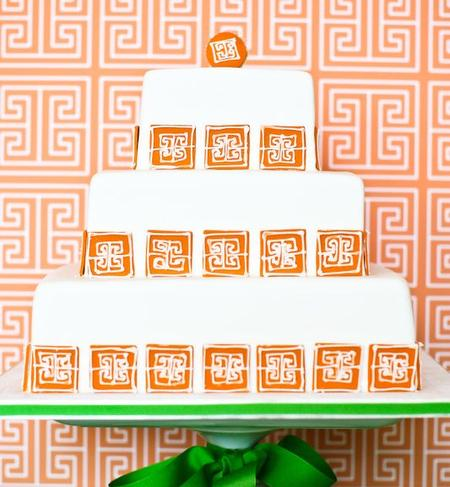 Square, Asian, Wedding, logo design, decor matching, Orange