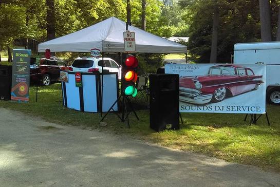 Classic Car Show Event - Car show tent