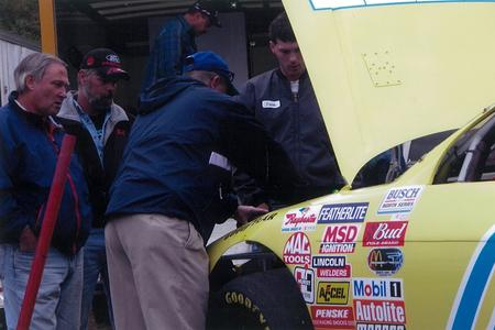 Gary Sutton as a Busch Series crew chief for a school student.