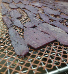 Curly's Jerky almost smoked!!