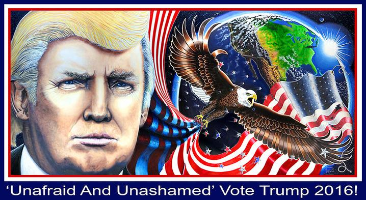 The Trump Painting & Trump Portrait, Unafraid And Unashamed By Julian Raven