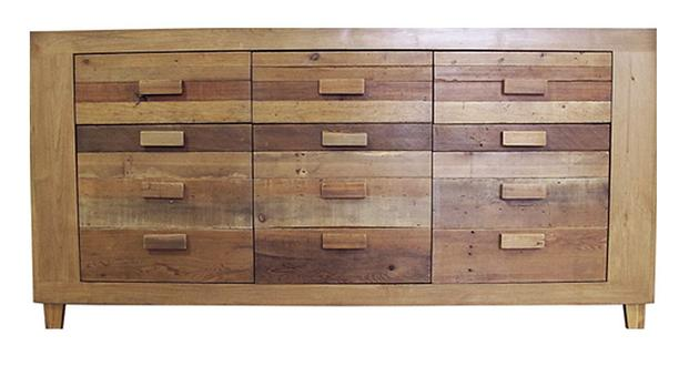 This Rustic Sideboard Has A Solid Alder Frame And Drawer Cabinet Door Fronts Composed Completely Of Found Reclaimed Wood Beautiful Blend Aged