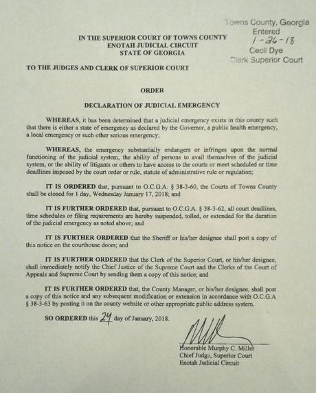 Declaration of Judicial Emergency