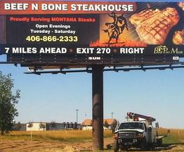 Billboards installed by CAT Graphics