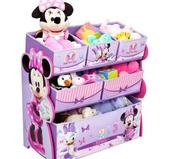 Delta Children Disney Minnie Mouse Multi-Bin Toy Organizer, Multicolor from Walmart - $29.84
