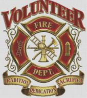 Cross Stitch Chart of Volunteer Fire Dept