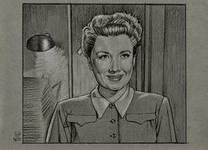 "Anne Baxter as ""Eve"" in ALL ABOUT EVE (Drawing by Cliff Carson)"