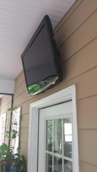 flat screen tv mounted over patio door, charlotte nc tv wall hangers, wall mount installers