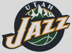 Utah Jazz Cross Stitch Chart Pattern