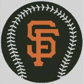 Cross Stitch Chart pattern of the San Francisco Giants
