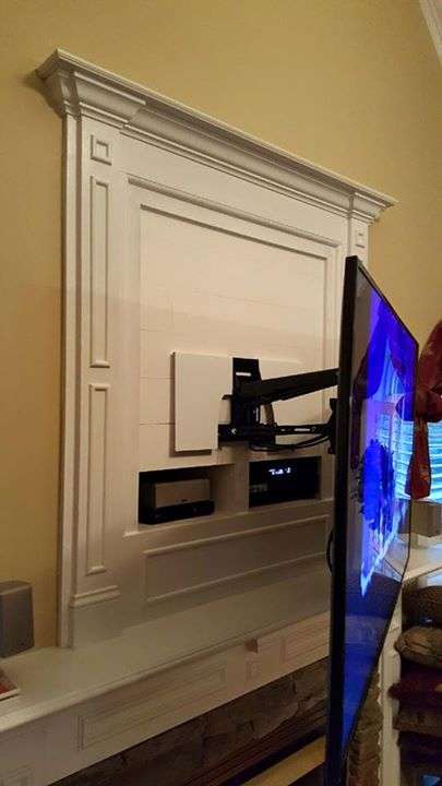 Mounting Flat Screen Tv Covering Old Fireplace Niche Charlotte Nc