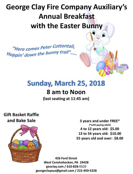 2018 BREAKFAST WITH THE EASTER BUNNY
