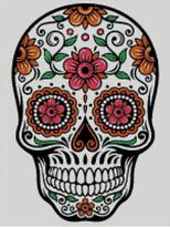 Cross Stitch Chart of Sugar Skull No 05