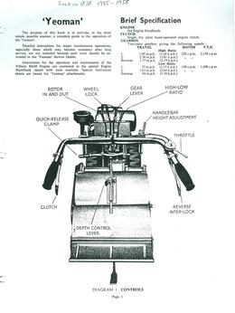 Howard Rotavator Yeoman Instruction Book