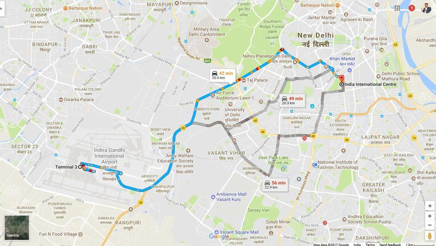 Venue Direction in Google Map on