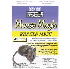 "No Escape Mouse Magic contains natural ingredients that triggers ""escape/avoidance"" behaviors in mice"