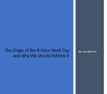 Article on Origin of 8 Hour workday