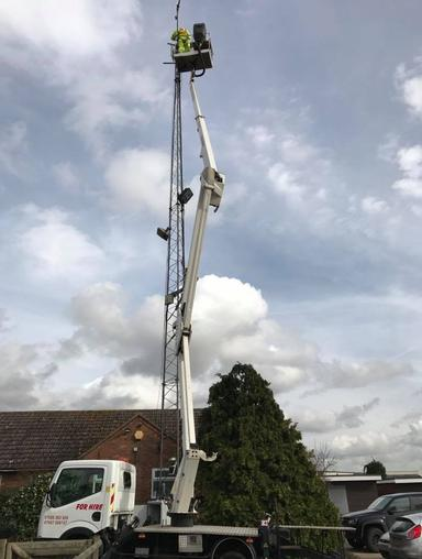 Nifty 120T Cherry Picker Hire in Colchester Essex