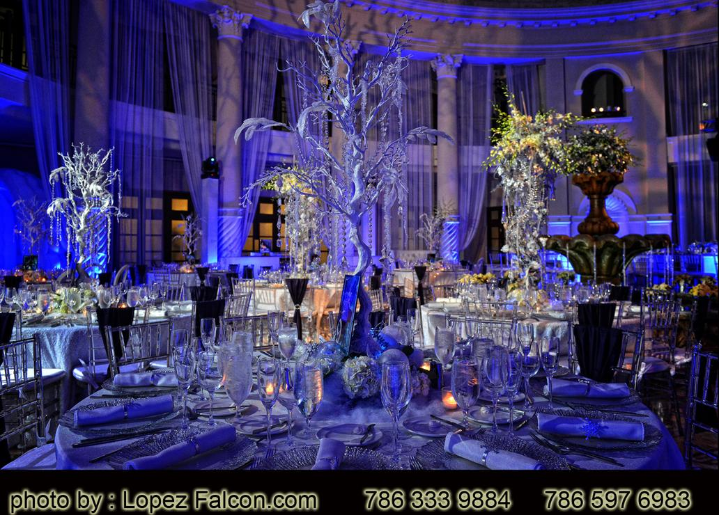 winter quinceanera themes Westin Colonnade Photography Video Dj Stage Decoration